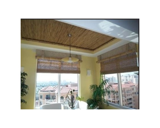 tTropical Window Treatments - Custom Bamboo top Treatment- 42""
