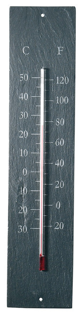 Slate Thermometer traditional-outdoor-decor