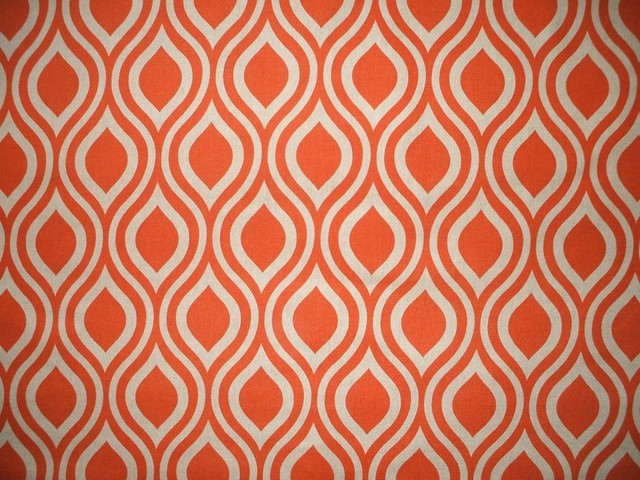 "84"" Shower Curtain, Lined, Nicole Orange Beige Geometric contemporary-shower-curtains"