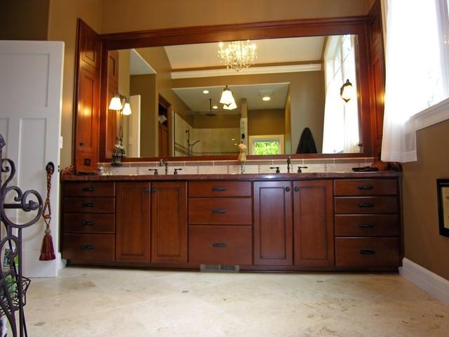 English Arts and Crafts Custom Remodel traditional-bathroom