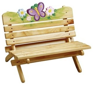 Magic Garden Outdoor Bench Contemporary Kids Chairs Other Metro By Little People 39 S Cove