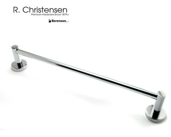 "2213US26 Polished Chrome Towel Bar by R. Christensen - 18"" contemporary style towel bar by R. Christensen in Polished Chrome."