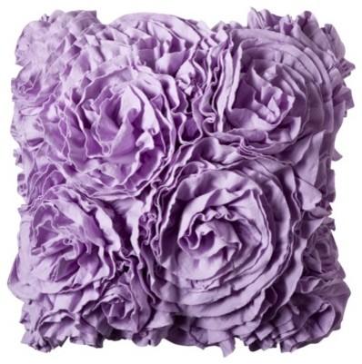 Xhilaration jersey ruffle decorative pillow purple Xhilaration home decor