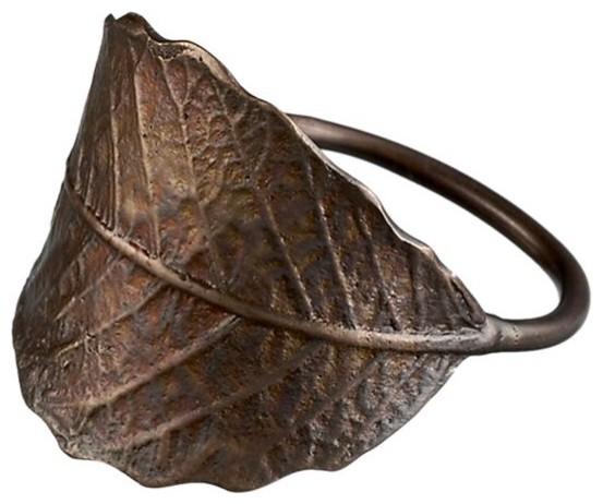 Leaf Napkin Ring in Napkin Rings eclectic-napkin-rings