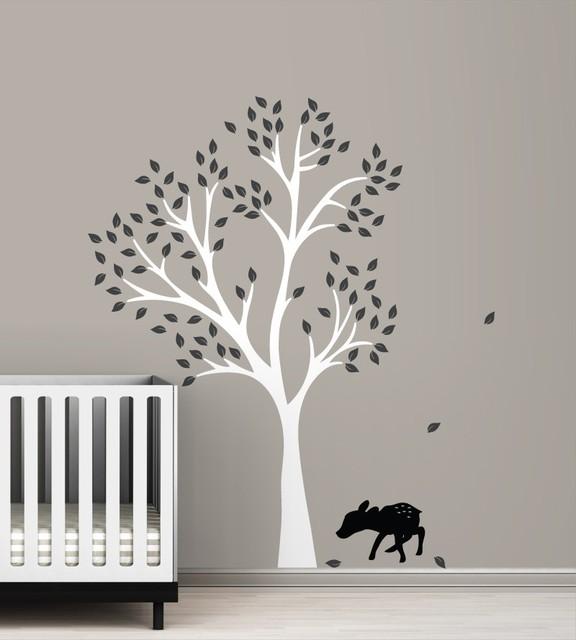 Littlelion Studio Fawn Tree Wall Decal modern-kids-wall-decor
