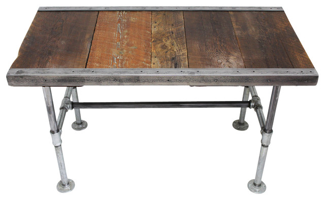 Industrial Desk With Pipe Legs Rustic Desks And