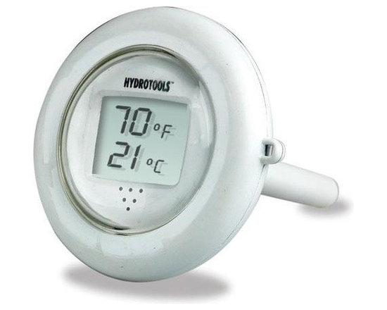 HydroTools Digital Floating Thermometer - -Easy-to-Read Digital LCD Display