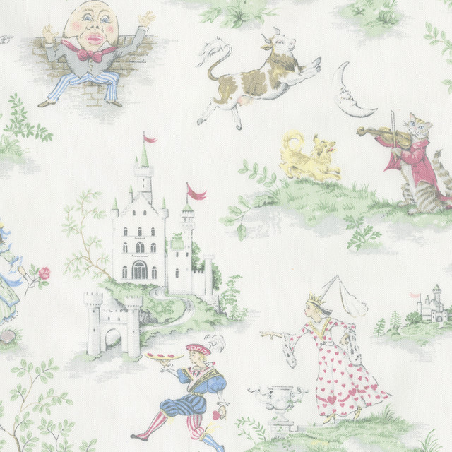 Nursery Rhyme Toile Fabric traditional-fabric