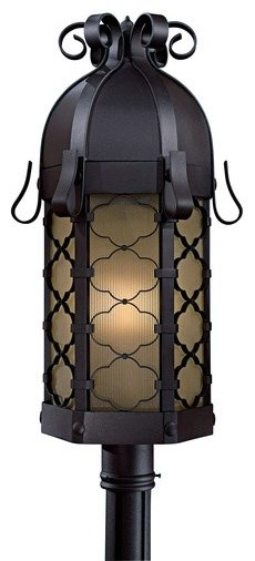 The Great Outdoors GO 9246-PL Single Light Down Lighting Energy Star Outdoor Pos transitional-outdoor-lighting