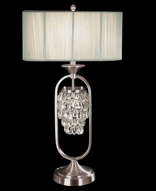 Dale Tiffany Delaney Crystal Night Light Table Lamp
