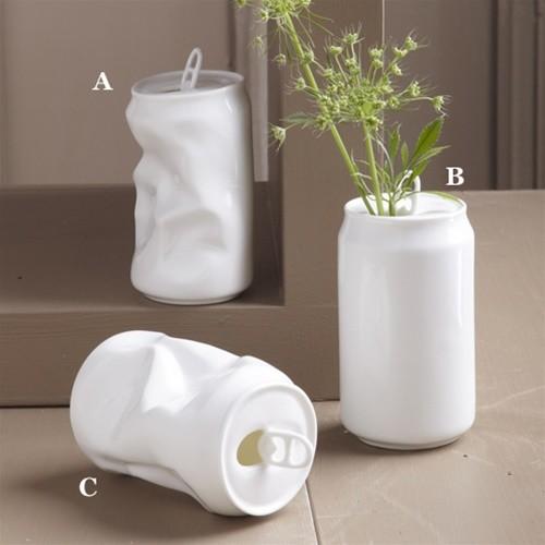 Porcelain Soda Can Vase eclectic-vases