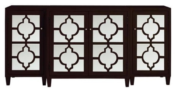 Reflections Mirrored 3 Piece Cabinet Transitional