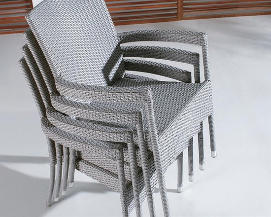 Cahl Stackable Patio Arm Chair - This stackable patio arm chair will instantly enhance any patio or outdoor seating decor.