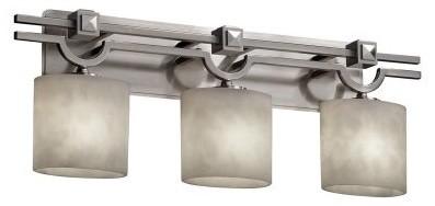 Justice Design Group Clouds CLD-8503-30-NCKL Argyle 3-Light Bath Bar - Nickel modern-bathroom-lighting-and-vanity-lighting