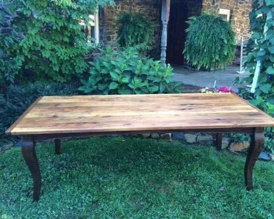 Farm Tables - Reclaimed chestnut table with cabriole legs.