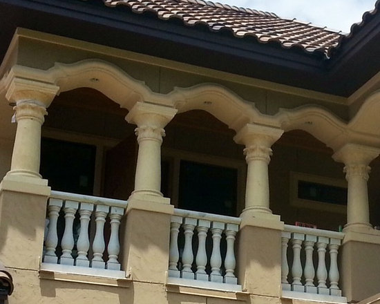 Installations - Hand carved marble balustrades