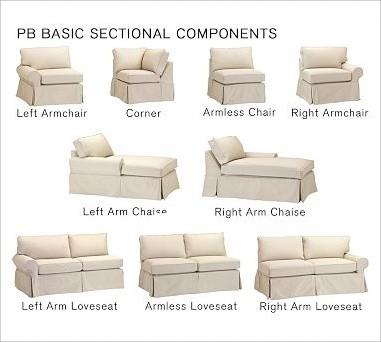 PB Basic Right Armchair Slipcover, Chunky Herringbone Walnut traditional-living-room-chairs