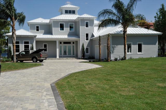Lake Houses Beach Style Exterior Orlando By Victoria Martoccia Custom