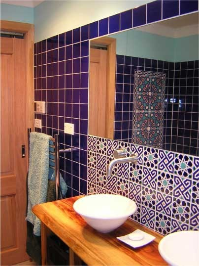 bathroom with Turkish tiles traditional bathroom tile