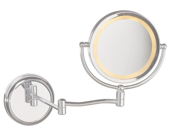 Dainolite - Arm Lighted Magnifier MirrorMagnifier Mirrors Collection - Swing Arm Lighted Magnifier Mirror, SC finish