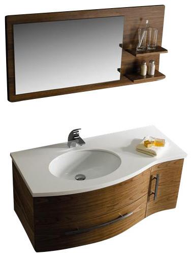 44 inch vanity w mirror traditional bathroom vanities and sink