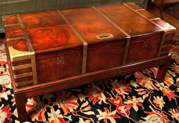 English Mahogany Campaign Chest on Stand traditional-coffee-tables