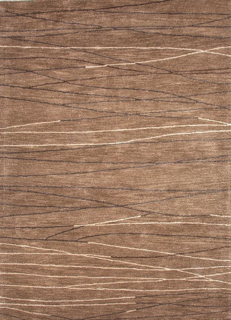 Contemporary Baroque 5'x8' Rectangle Gray Brown-Gray Brown Area Rug contemporary-rugs