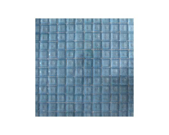 Powder Blue Glass Mosaics -