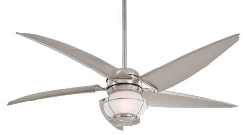 Minka Aire Magellan Ceiling Fan in Brushed Nickel Wet tropical-ceiling-fans