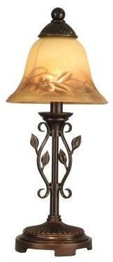 Dale Tiffany Leaf Vine Hand Painted Mini Lamp modern-table-lamps