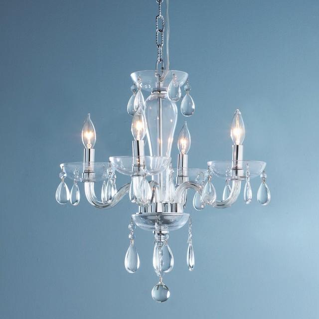 4 Light Clear Glass Mini Chandelier Chandeliers by