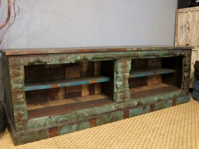Boho Chic Media Stand - Eclectic - Media Storage - st ...