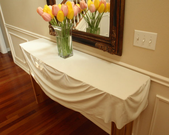CONCRETE - Broadmoor Console Table - Fabric formed CONCRETE Table.