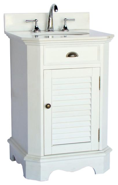 24 Cottage Style Junior Abbeville Bathroom Sink Vanity Beach Style Bathroom Vanities And