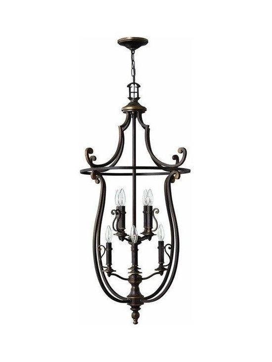 Hinkley Lighting 4258OB Hanger 8 Light Foyer Plymouth Collection -