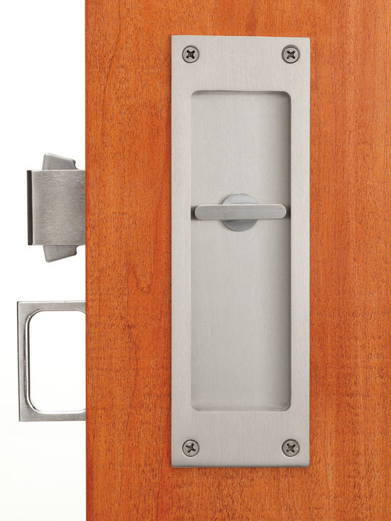 Pocket door locks and flush pulls - Premium Pocket door privacy lock and edge pull by Accurate Lock and Hardware Co., LLC