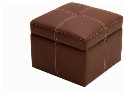 Delaney Small Square Ottoman in Coffee modern-ottomans-and-cubes