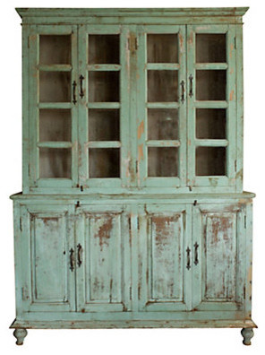 Distressed Wood Cabinet traditional-storage-units-and-cabinets