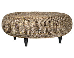 Riau Woven Fiber Round Coffee Table contemporary coffee tables