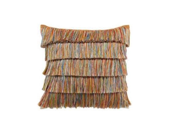 "Elaine Smith Luxury Outdoor Pillows - Elaine Smith Pillows Acapulco Hula - 20"" x 20"" - Elaine Smith pillow collections is the world's first and only line of outdoor luxury pillows. They start with the best, solution dyed yarns and work with the finest U.S. mills to create beautiful, long lasting quality products. These pillows can withstand nature and human nature, resisting sun, rain, and stains."
