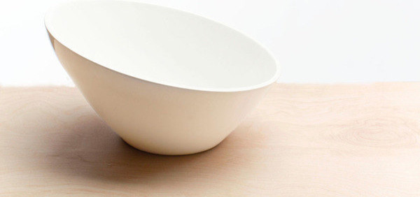 White Ceramic Serving Bowl by Red Clay contemporary-home-decor