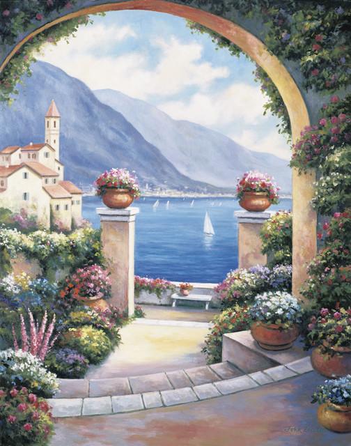 mediterranean archway wall art mediterranean wallpaper