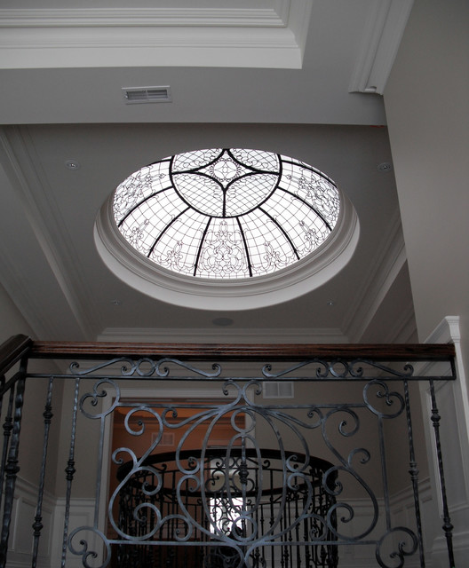 Leaded Glass Oval Dome traditional-skylights