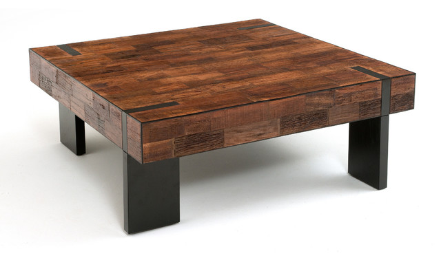 Reclaimed Wood Modern Rustic Coffee Table Other Metro By Woodland Creek Furniture