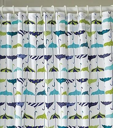 Let-It-Rain Shower Curtain - Garnet Hill eclectic-shower-curtains