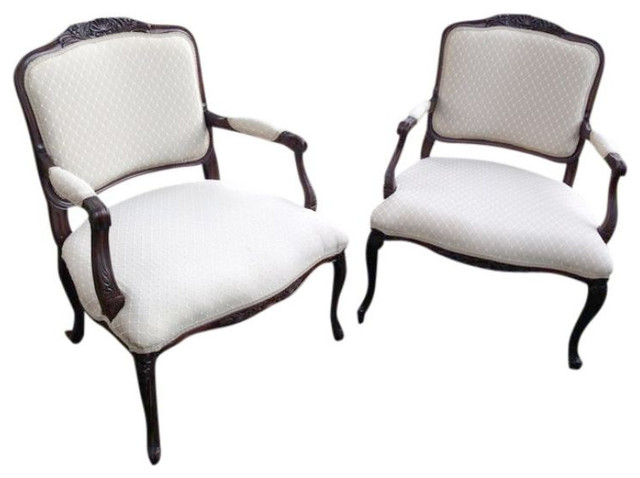 SOLD OUT! Chairs, French Provincial - Pair - $1,100 Est. Retail - $375 on Chairi transitional-armchairs-and-accent-chairs