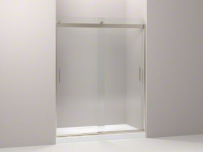 """KOHLER Levity Sliding Shower Door with Handle and 1/4"""" Crystal Clear Glass contemporary-bath-products"""
