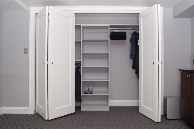 "Lower Level Remodel ""the family fun zone"" contemporary-closet"