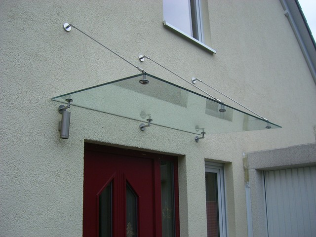 Glass canopy awning contemporary brackets hong kong for Glass awnings for home
