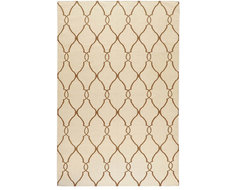 Jill Rosenwald Rugs Fallon Ivory / Golden Brown contemporary rugs